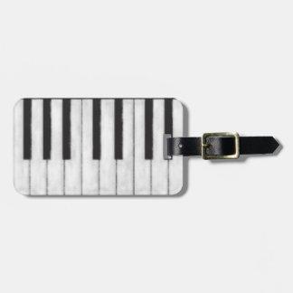 Elegant and Modern Chalkboard Pianist Luggage Tag