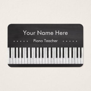 Piano teacher business cards templates zazzle elegant and modern chalkboard piano teacher business card colourmoves