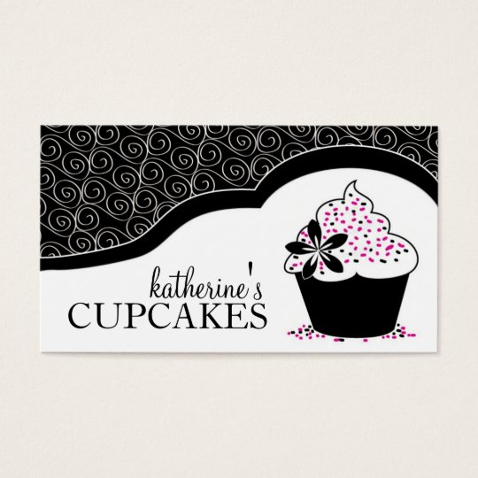 Elegant  and Modern Cupcake Business Cards