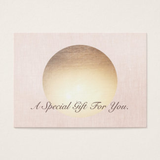 Elegant and Modern Gold Moon Gift Certificate