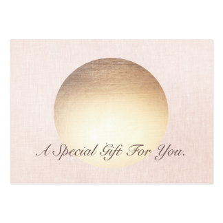 Elegant and Modern Gold Moon Gift Certificate Large Business Card