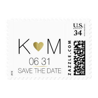 elegant and modern wedding postage