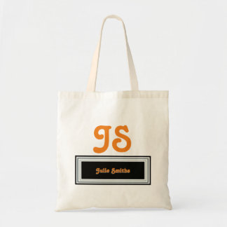 elegant and personalized tote bag