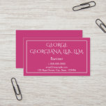 [ Thumbnail: Elegant and Professional Barrister Business Card ]