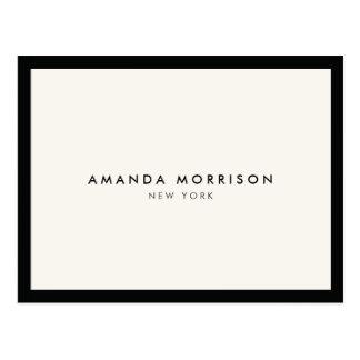 Elegant and Refined Luxury Black/Ivory Postcard