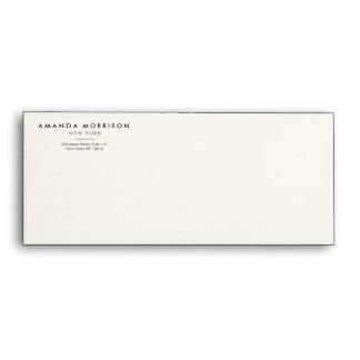 Elegant and Refined Luxury Boutique Black/Ivory Envelope