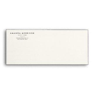 Elegant and Refined Luxury Boutique Black/Ivory Envelope