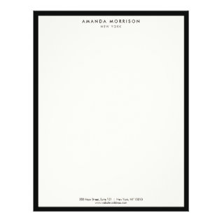 Elegant And Refined Luxury Boutique Black/ivory Letterhead at Zazzle