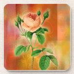 Elegant and romantic Floral Orange Roses Coaster