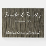 [ Thumbnail: Elegant and Rustic Marriage Guest Book ]