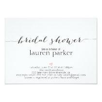 Elegant and Simple Bridal Shower Invitation