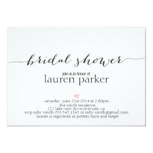 Elegant bridal shower invitations zazzle elegant and simple bridal shower invitation filmwisefo