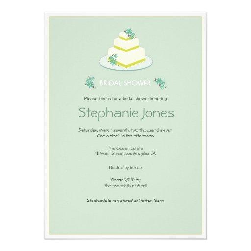 Bridal shower invitations bridal shower invitations simple for Designer bridal shower invitations