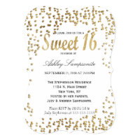 Elegant and Simple Faux Gold Confetti Card