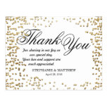 Elegant and Simple Faux Gold Confetti Postcard