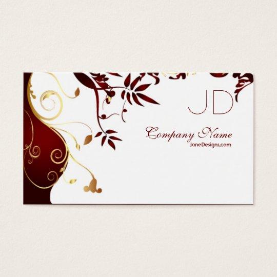 Elegant and Simple Interior Design Business Card