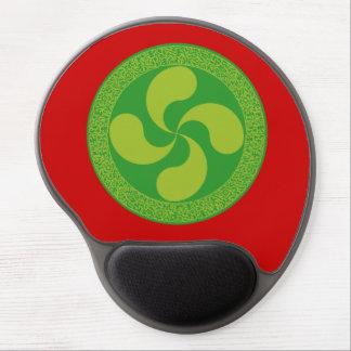 Elegant and stylish Basque cross: Lauburu, Gel Mouse Pad
