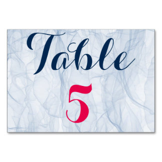 Elegant and stylish pink and blue wedding table # card