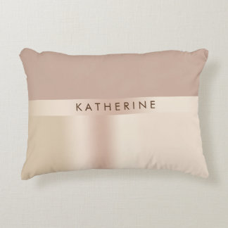 Elegant and stylish rose gold brown accent pillow