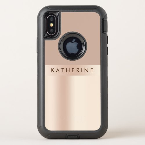 Elegant and stylish rose gold brown Phone Case