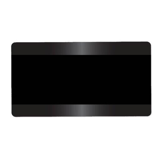 Elegant and stylish satin gray border blank personalized shipping labels