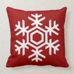 Elegant and Stylish White Snowflake Christmas Pillows