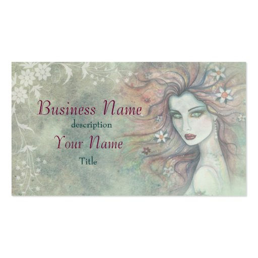 Elegant and Unique Cosmetologist Makeup Artist Business Card
