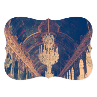 Elegant and vintage chandelier invitation