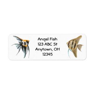 Elegant Angel Fish Label