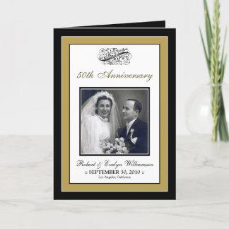 Elegant Anniversary Party Custom Card (gold)