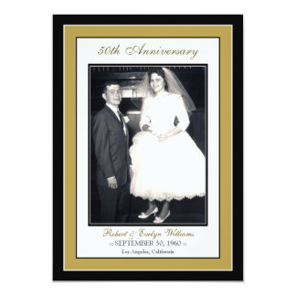 Elegant Anniversary Party Invitation (gold)
