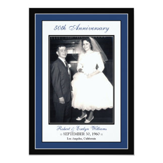 Elegant Anniversary Party Invitation (navy)