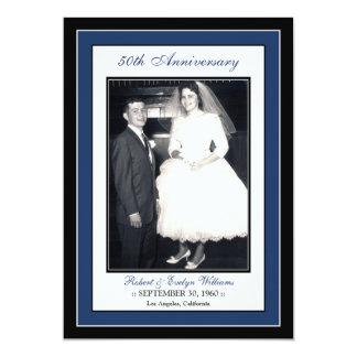 Elegant Anniversary Party Invitation (navy)