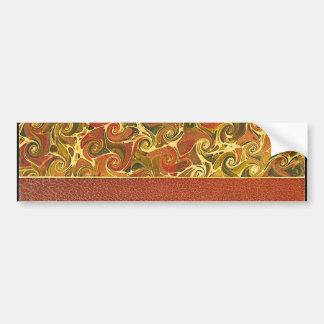 Elegant Antique Book, Ornate Swirl Pattern Bumper Sticker