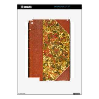 Elegant Antique Book, Ornate Swirl Pattern Decal For The iPad 2