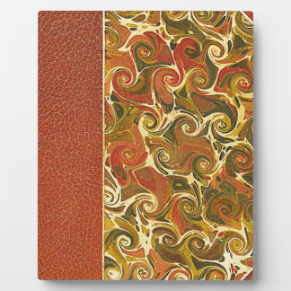 Elegant Antique Book, Ornate Swirl Pattern Plaque