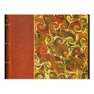 Elegant Antique Book, Ornate Swirl Pattern Postcard