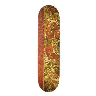 Elegant Antique Book, Ornate Swirl Pattern Skateboard Deck