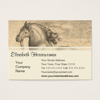 Elegant Antique Engraving of Spanish Horse Business Card