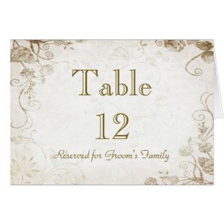 Elegant Antique Gold Table Seating Name Card