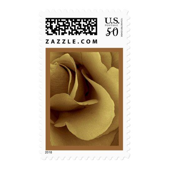 Elegant ANTIQUE GOLD  Wedding Rose Stamp