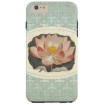 Elegant Antique Lotus Lily Damask Tough iPhone 6 Plus Case