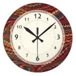 Elegant Antique Marble Vintage Edwardian Gentleman Round Clock