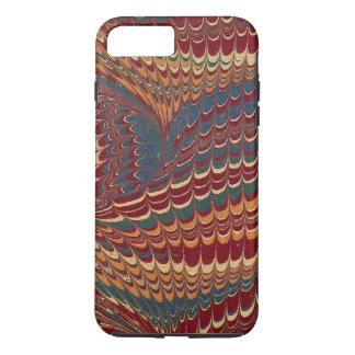 Elegant Antique Marbled Paper Rich Burgundy Red iPhone 7 Plus Case