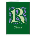 Elegant antique medieval letter R Cards