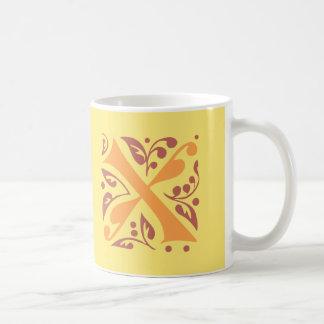 Elegant antique medieval letter X Coffee Mug