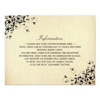 Elegant Antique Swirls Wedding Detail Card