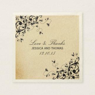 Elegant Antique Swirls Wedding Napkins