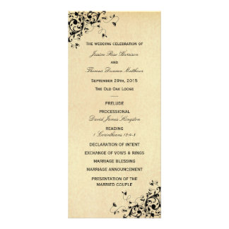 Wedding program template rack cards zazzle elegant antique swirls wedding program template pronofoot35fo Choice Image