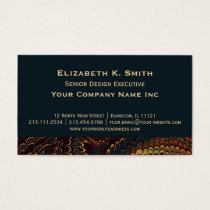 Elegant Antique Teal Marbled Corporate Business Card